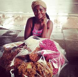 Maria, AfroColombian cocada vendor from Cartagena.