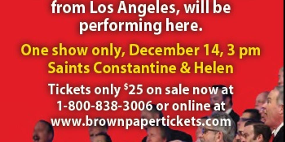 Masters of Harmony Christmas Concert with La Jolla Pacific Coast Harmony Chorus