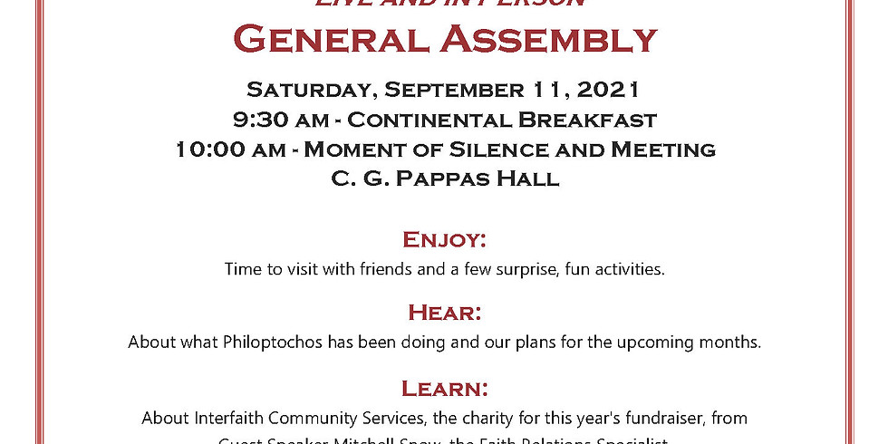 Saint Helen Philoptochos General Assembly Meeting