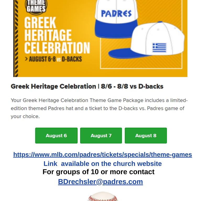 Padres Greek Heritage Night