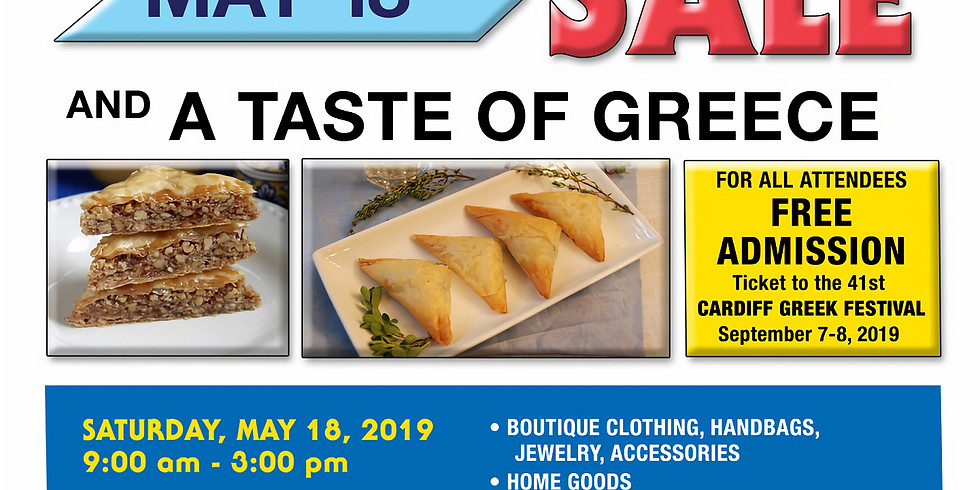 RUMMAGE SALE AND A TASTE OF GREECE