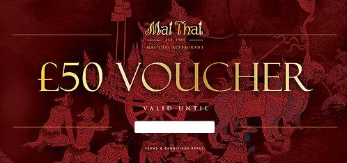 Mai Thai Gift Voucher 50