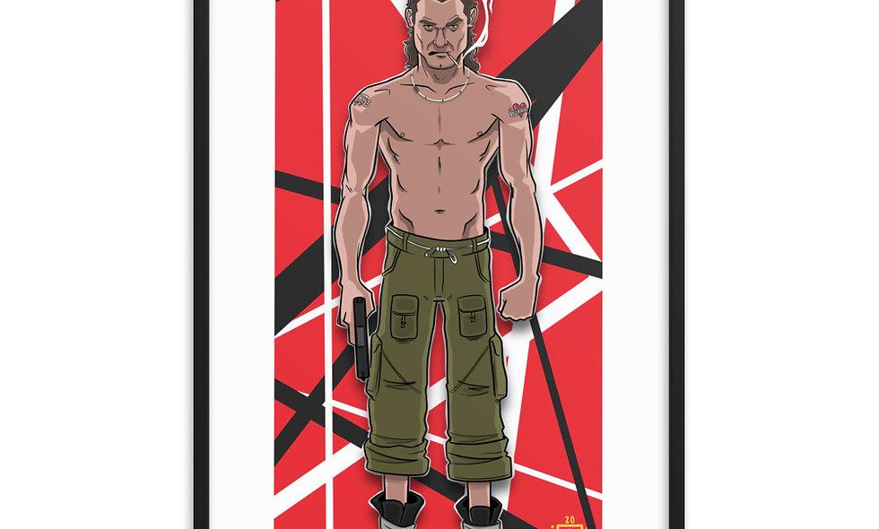 EDDIE VAN HALEN  (Framed Poster)