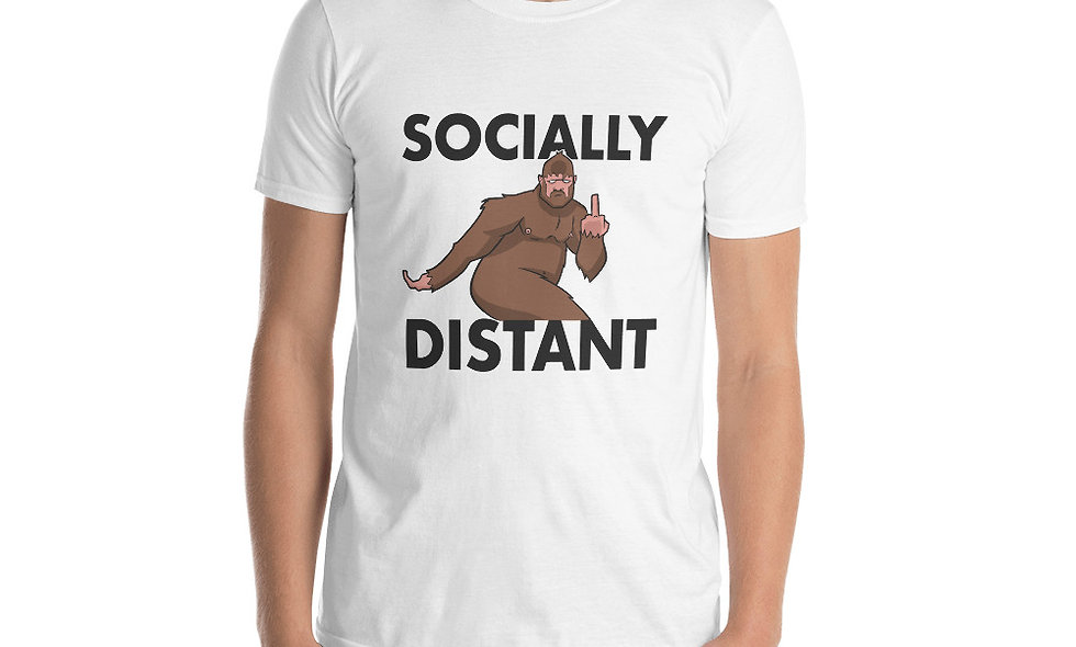 Socially Distant Tee (Black Letters)