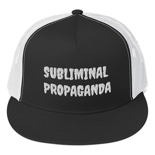 Subliminal Propaganda Trucker Cap