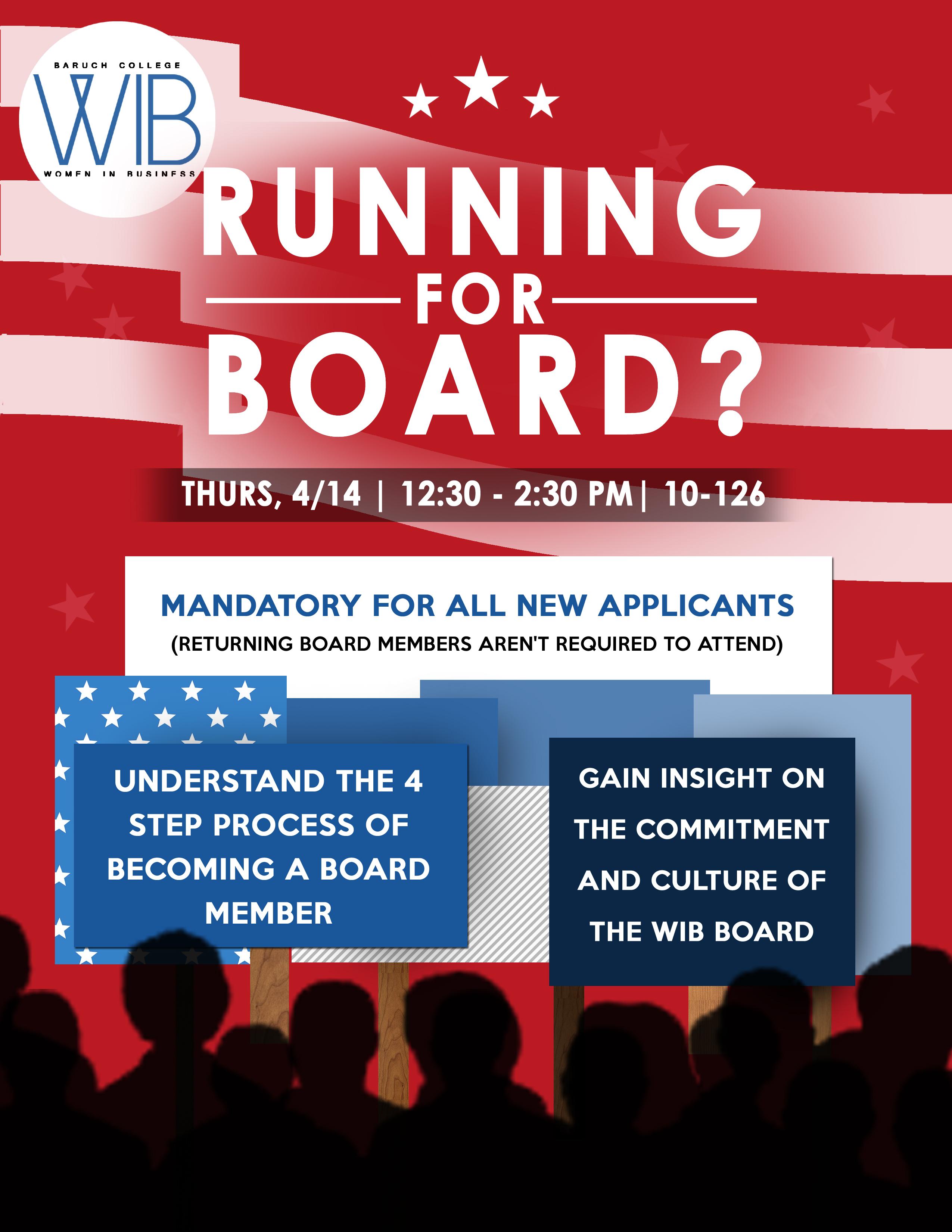 Running for Board