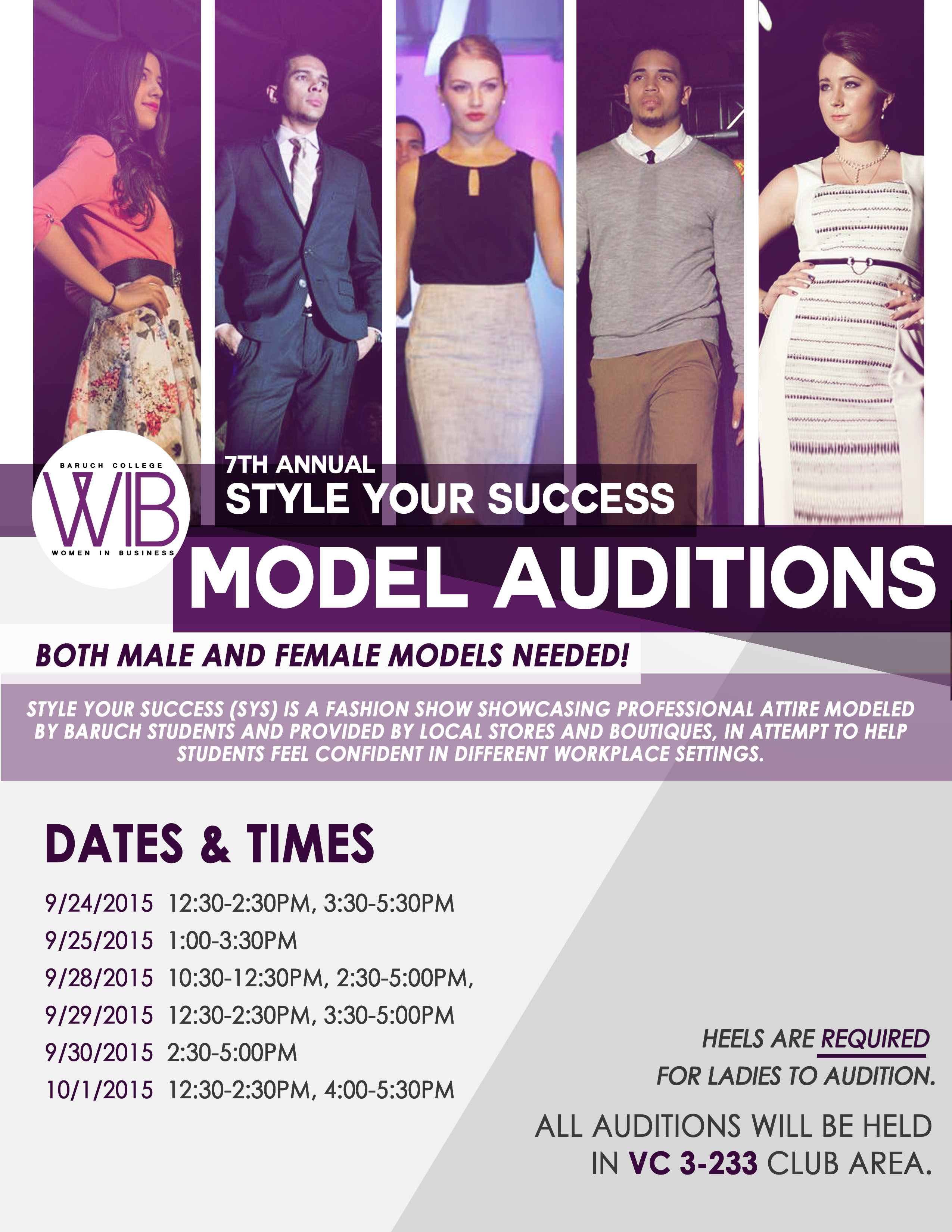 SYS Model Auditions