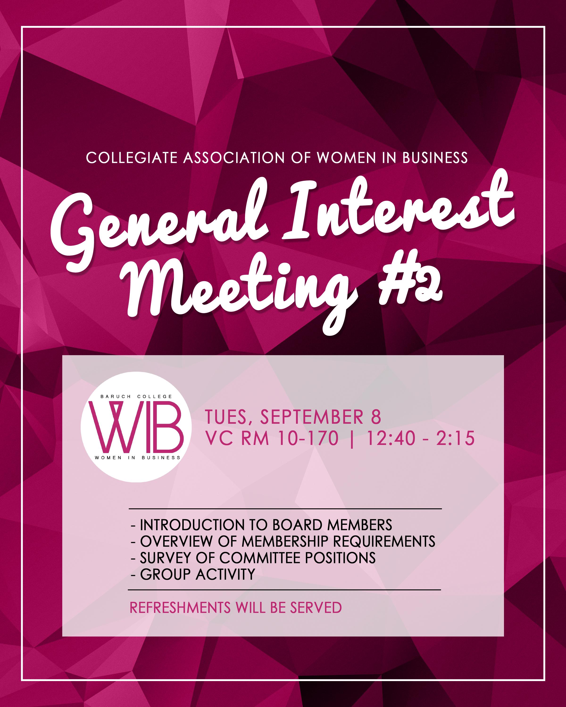 General Interest Meeting #2