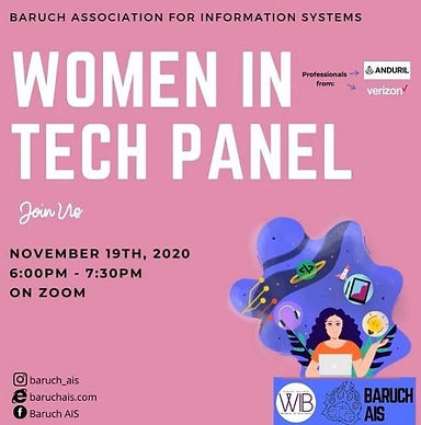 11/19 Association for Information Systems: Women in Tech Panel (Co-Host)