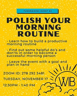 11/17 Fundraising #2: Polish Your Morning Routine