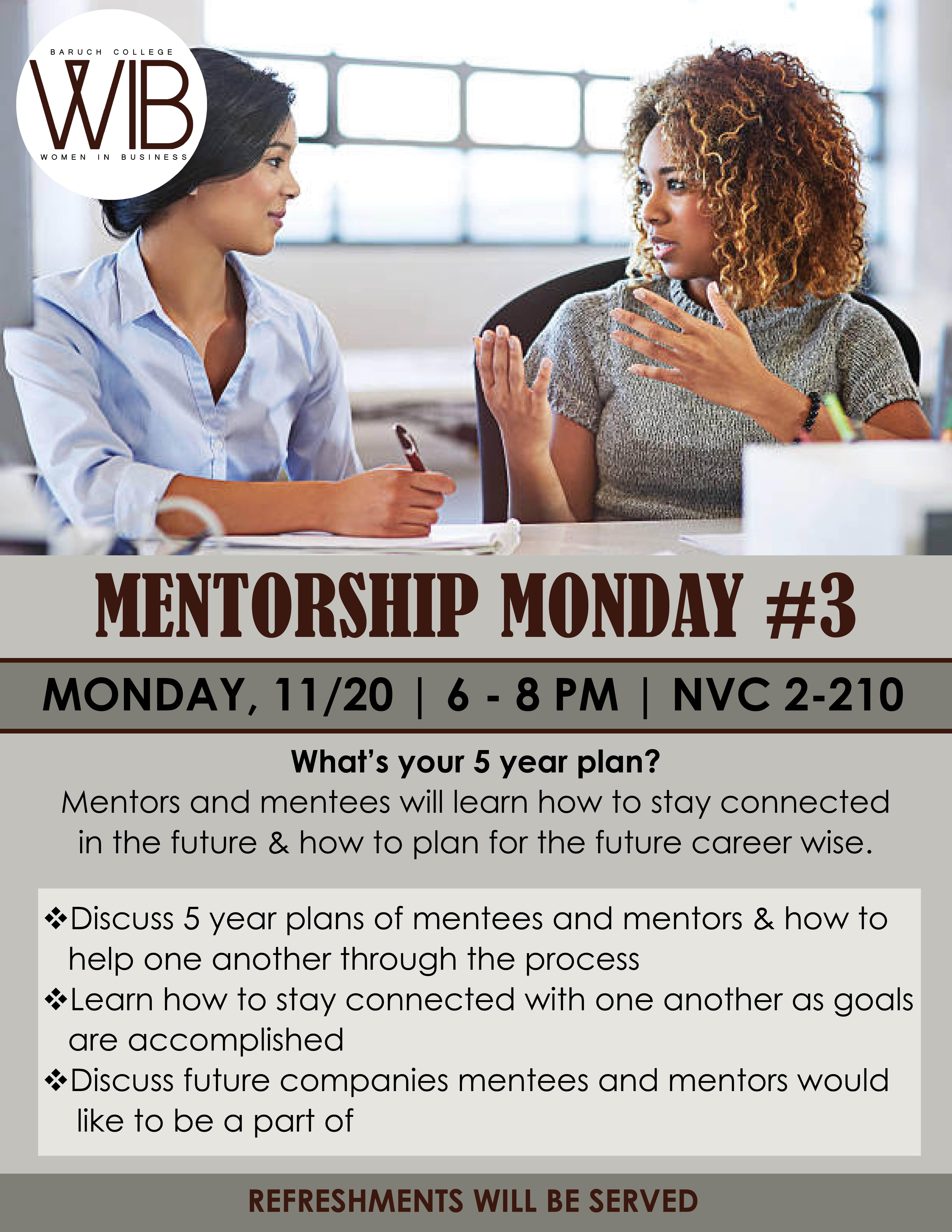 Mentorship Monday 3