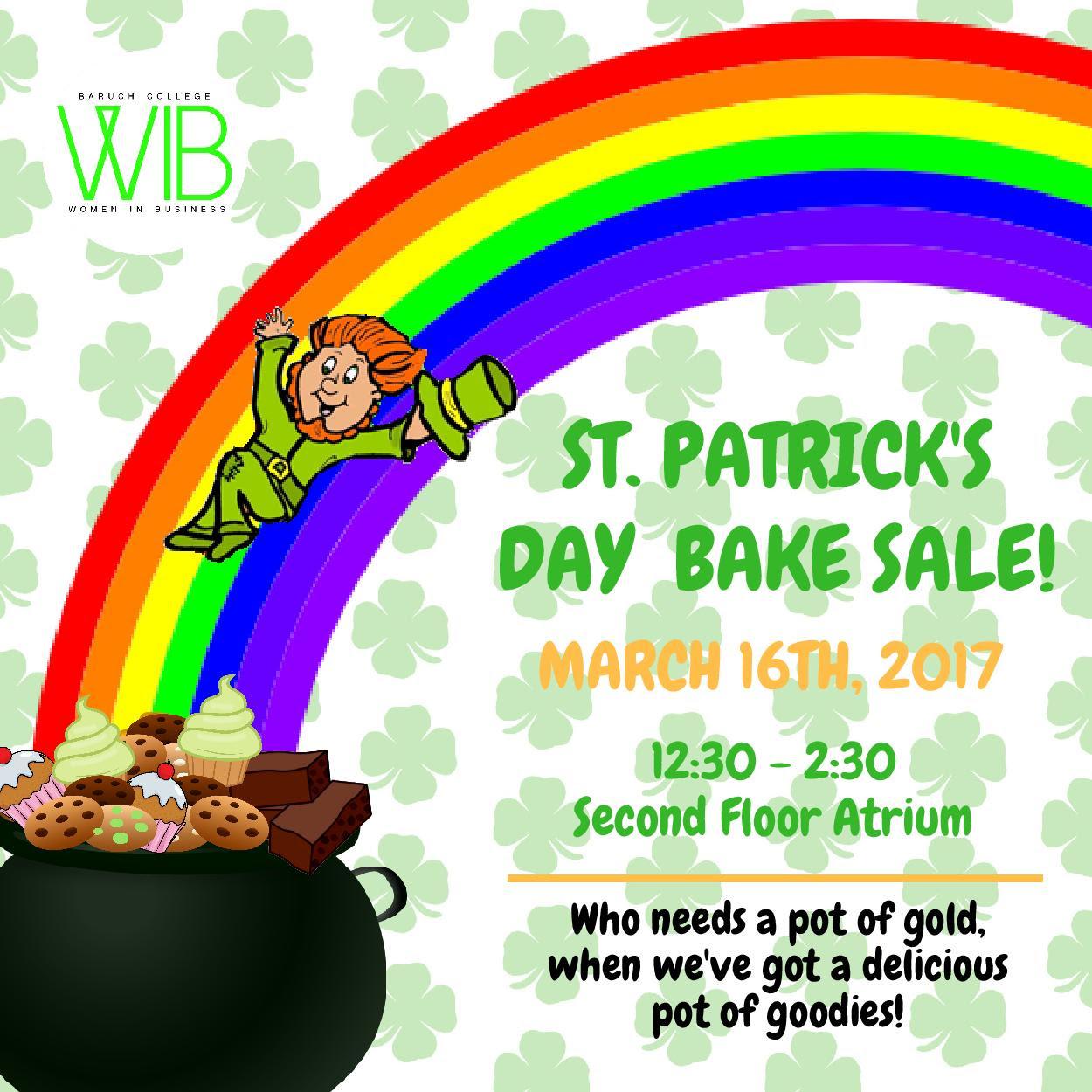 St. Patrick's Day Bake Sale