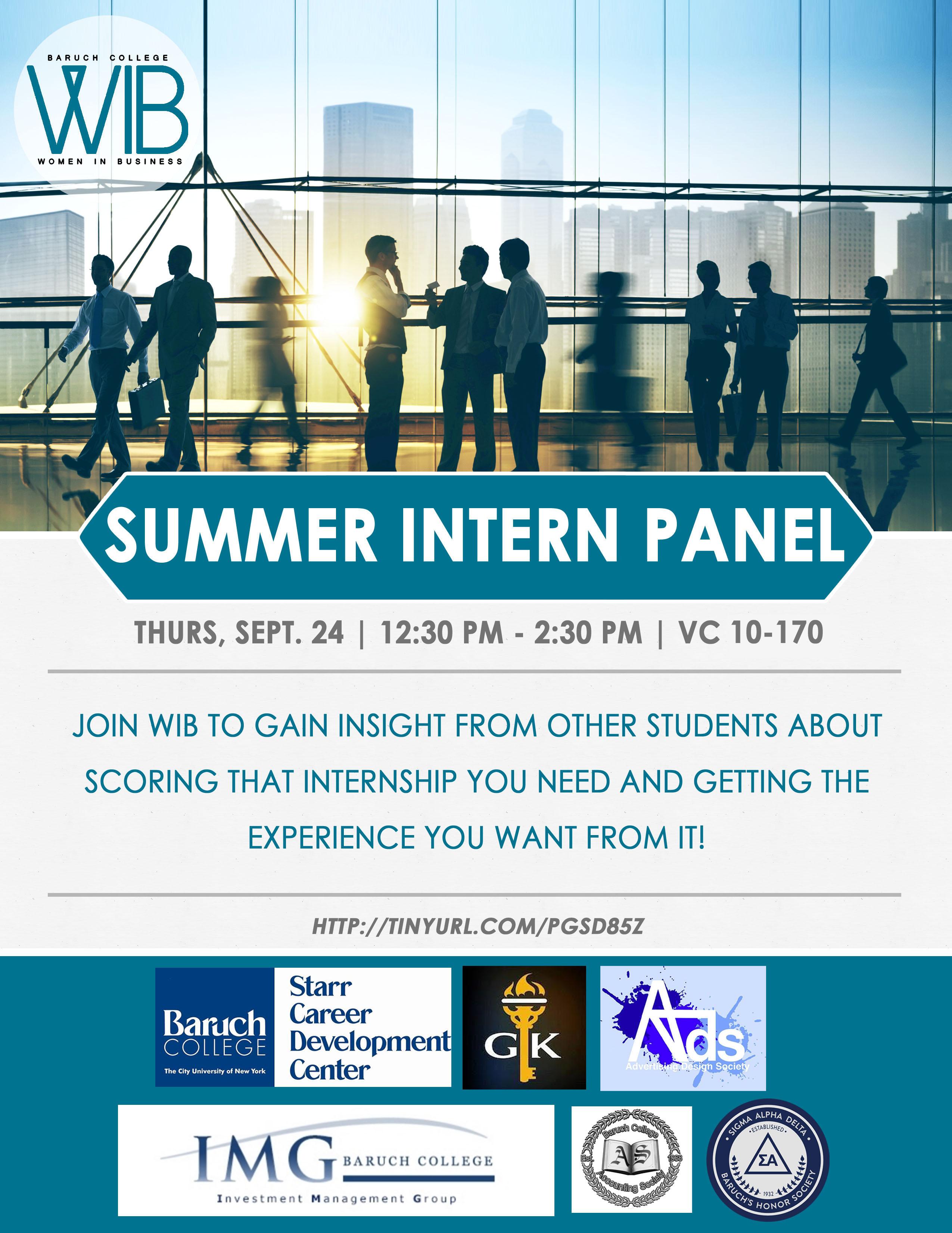 Summer Intern Panel