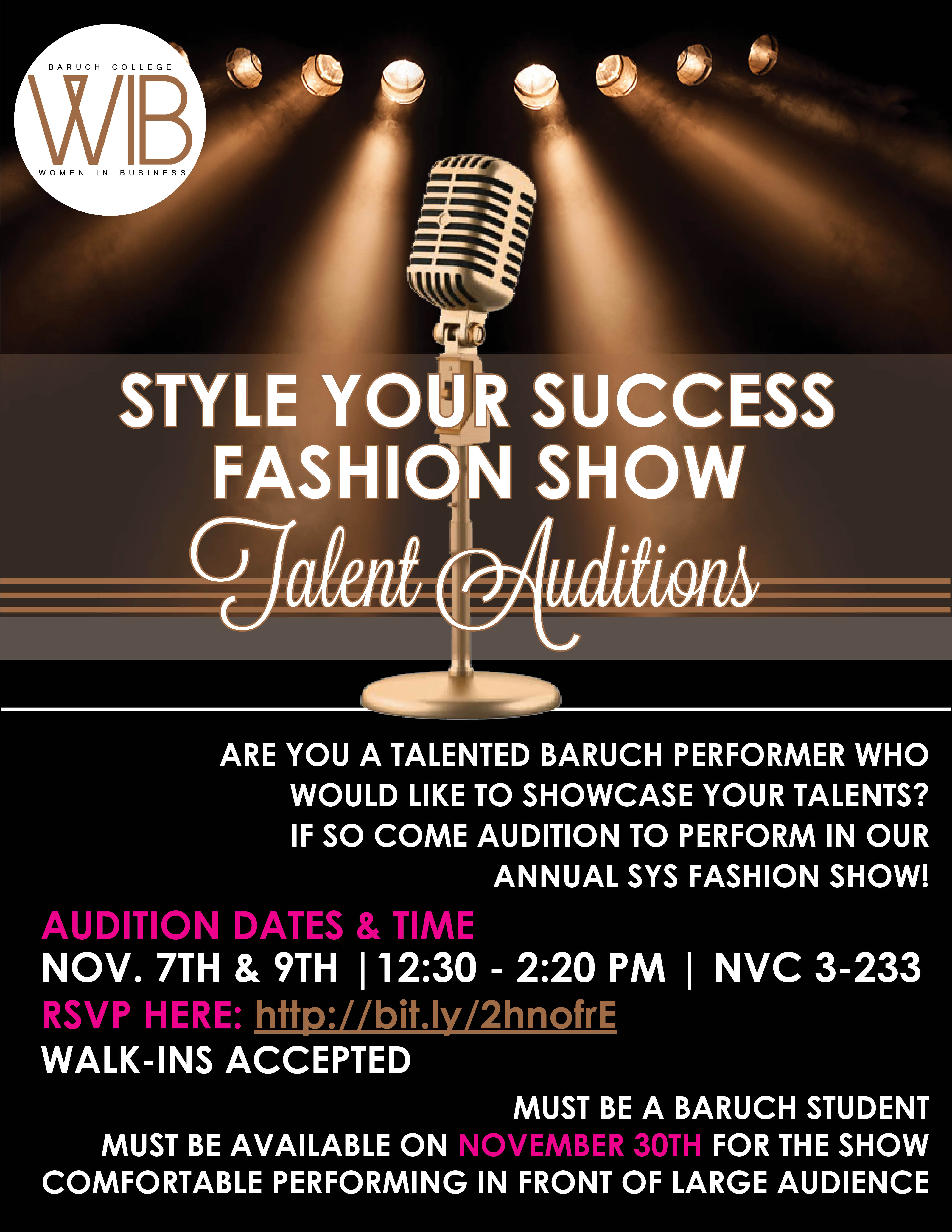 SYS Talent Auditions