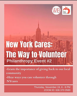 11/19 Philanthropy #2: New York Cares – The Way to Volunteer