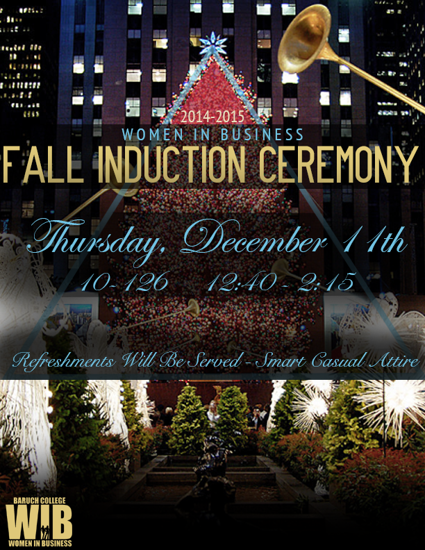 Fall Induction Ceremony