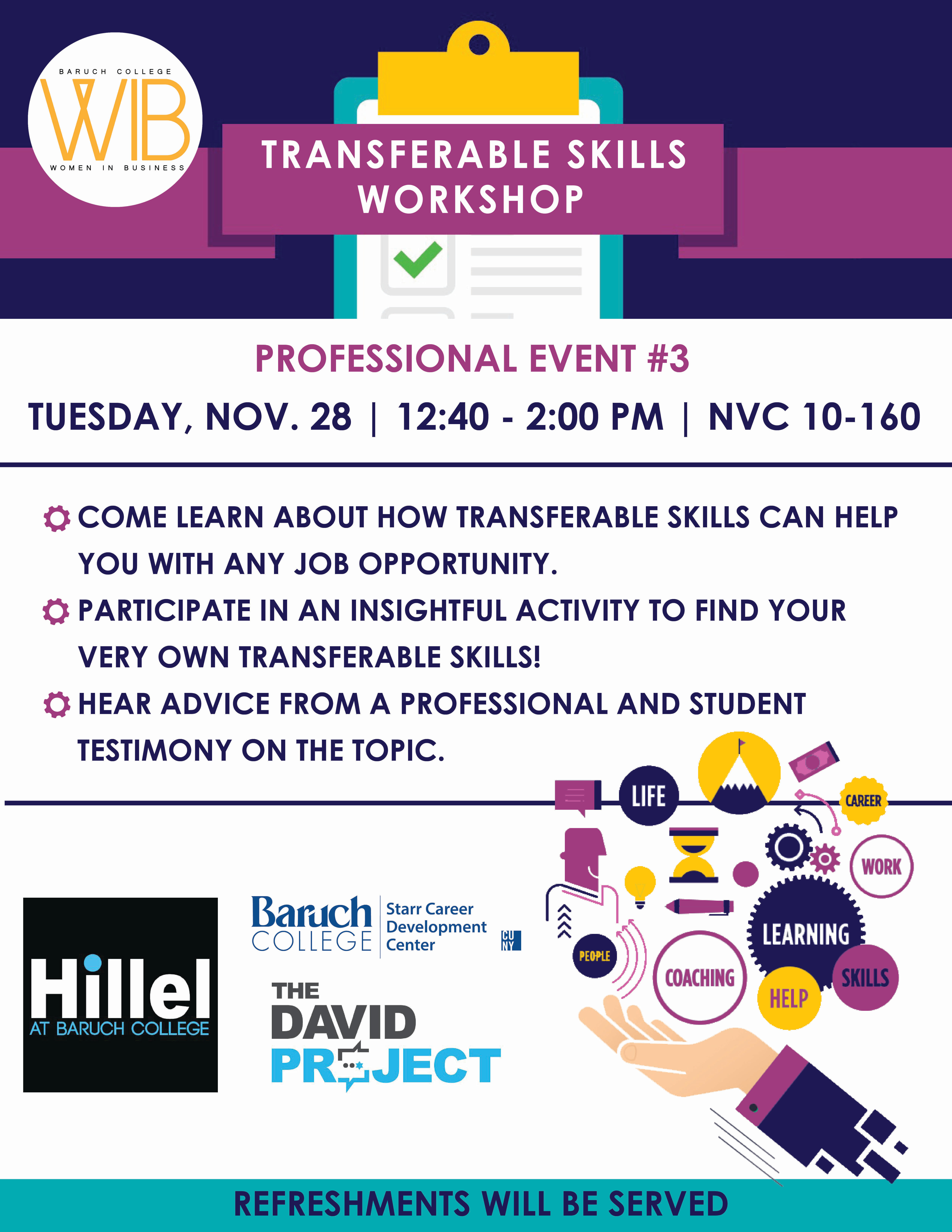 Transferable Skills workshop