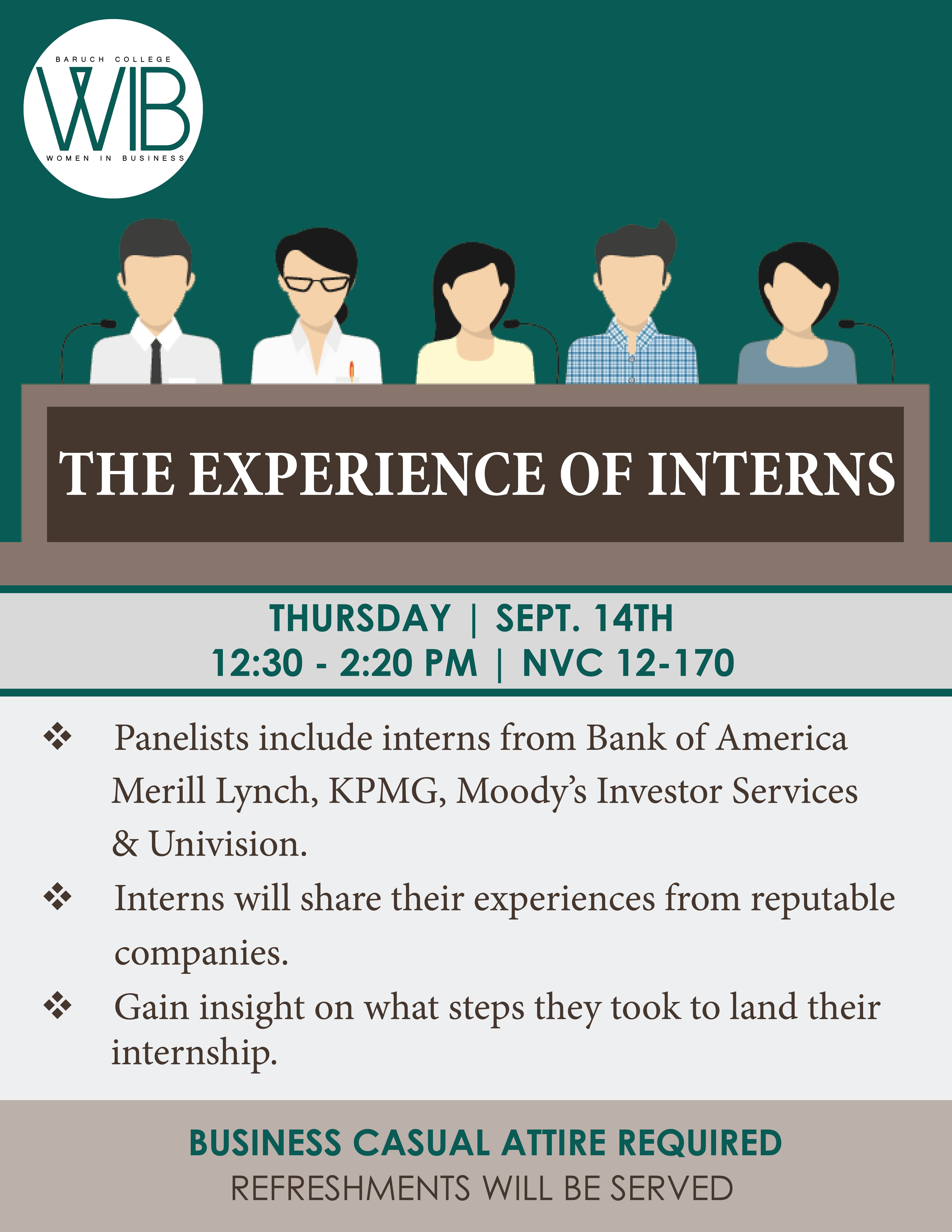 Experience of Interns