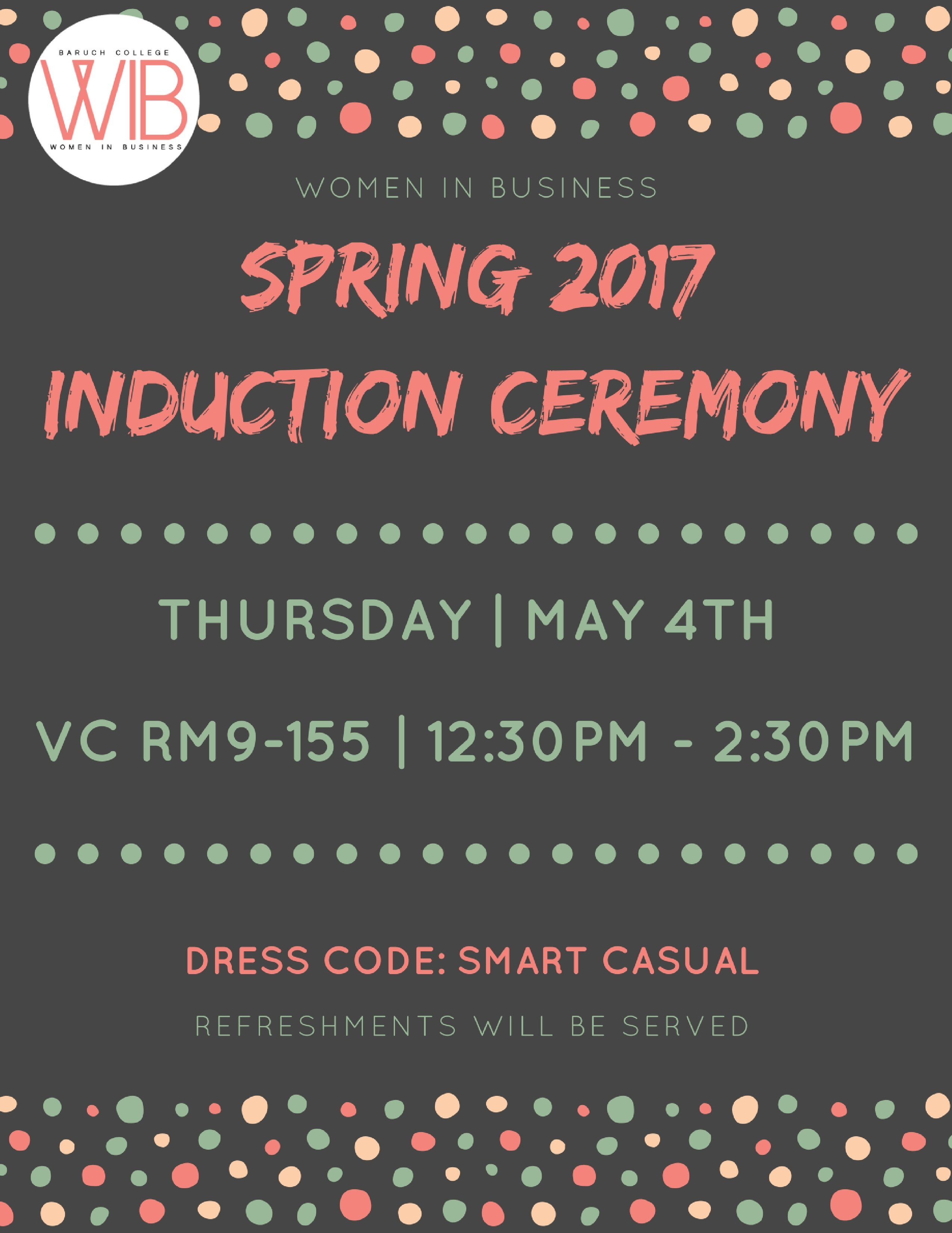 Spring Induction Ceremony