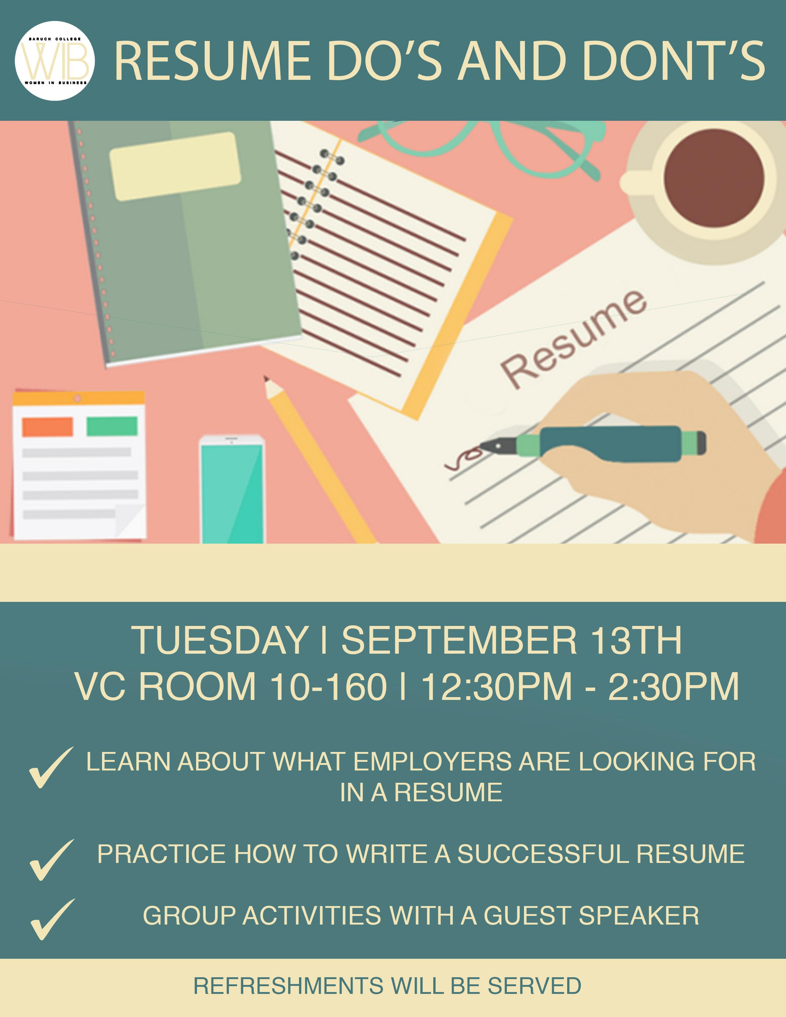 Resume Do's & Don'ts