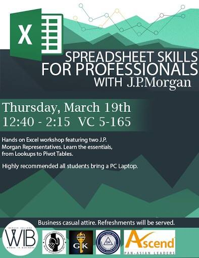 Spreadsheets with JP Morgan