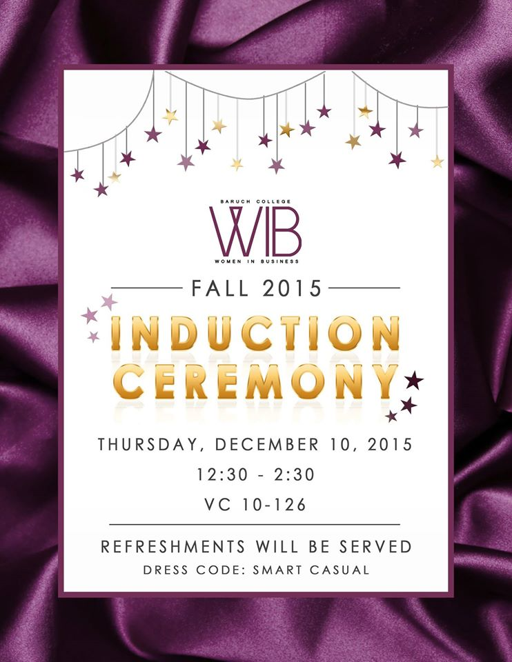 Fall 2015 Induction Ceremony