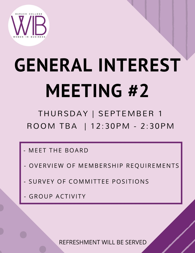 General Interest Meeting