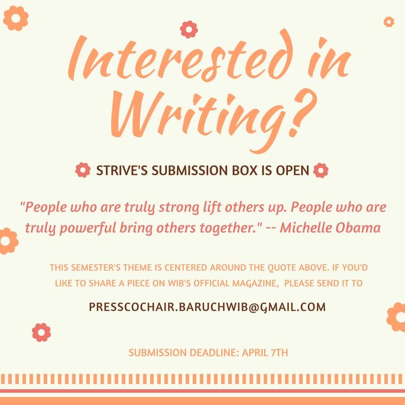 Write for STRIVE Magazine!