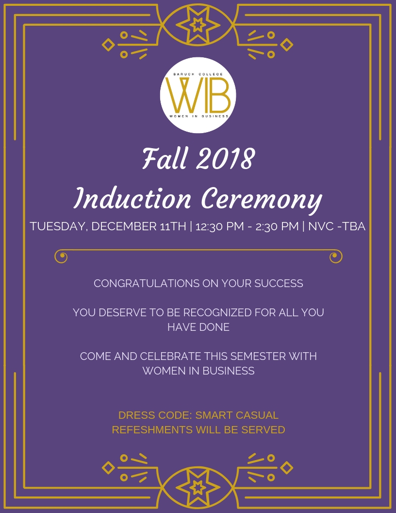 Fall 2018Induction Ceremony