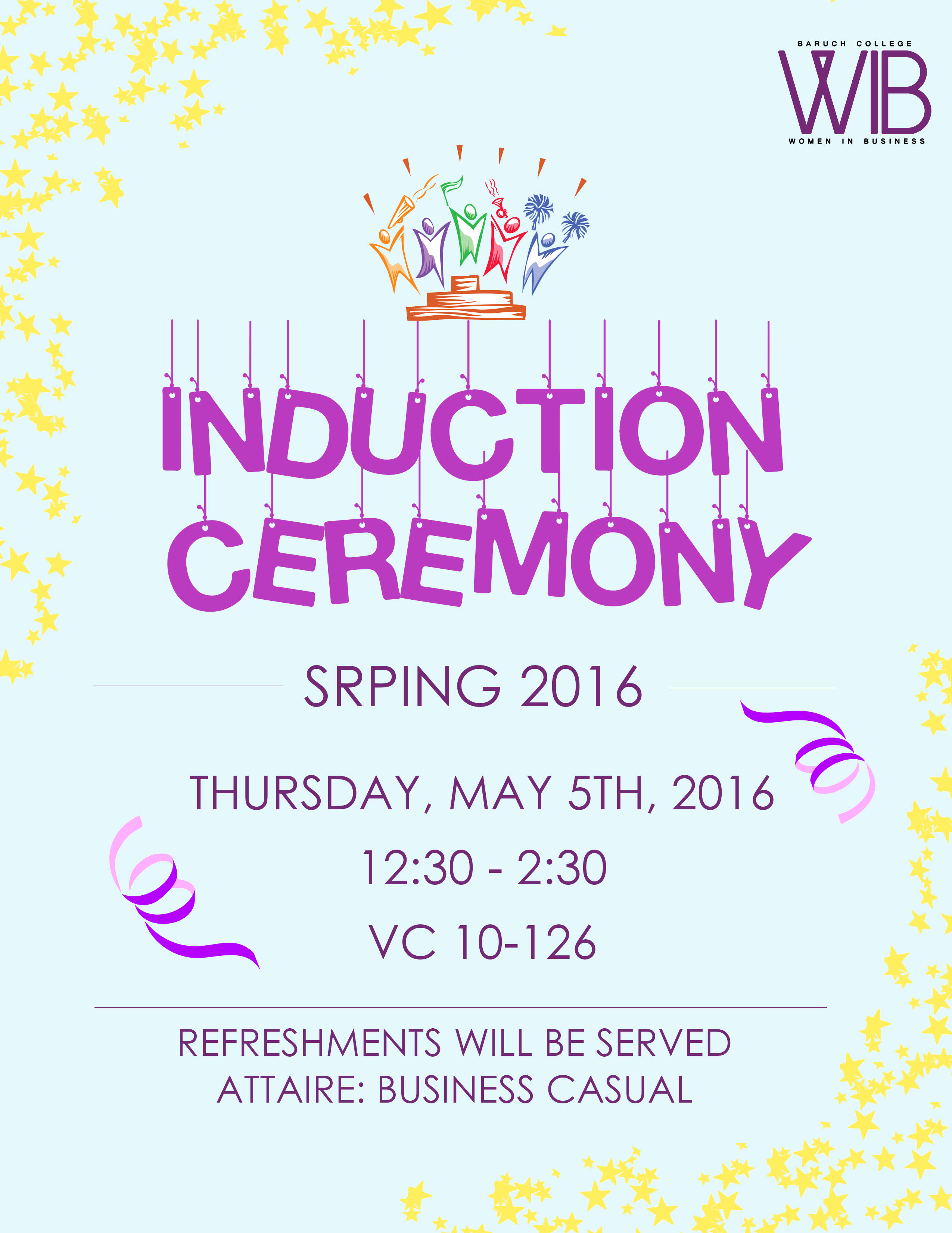 Spring 2016 Induction