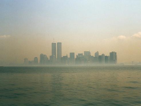 Manhattan nella foschia mattutina