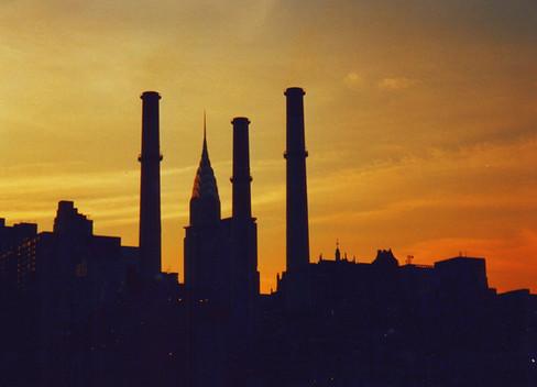 Chrysler Building al tramonto