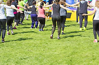 Group of young girls exercising fitness