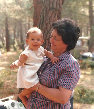 Monica with grandmother