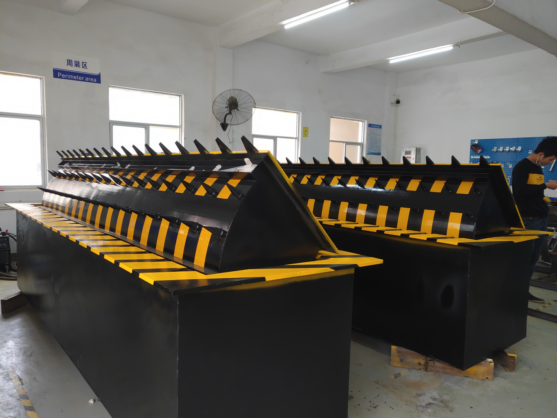 Road blocker production line