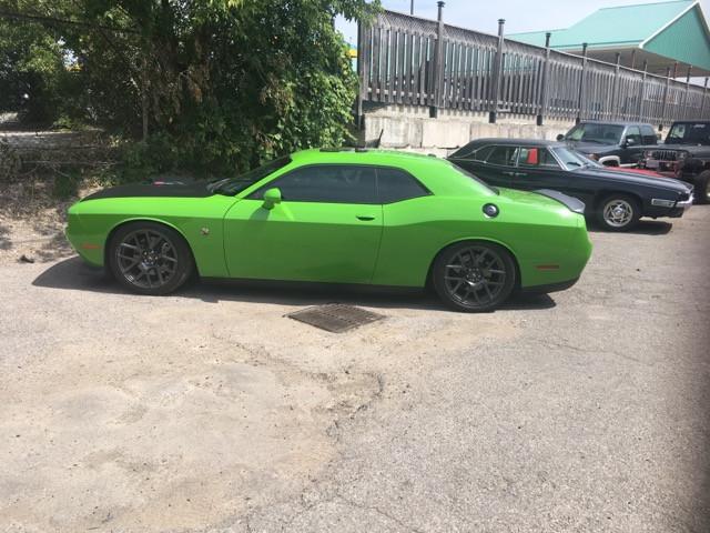 Green Dodge Challenger