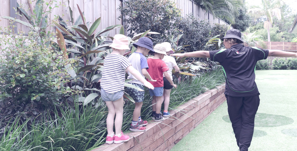 Preschoolers in our playground