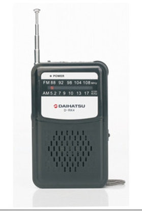 Radio Portátil Am Fm Daihatsu D-rk4 Agente Oficial Caba