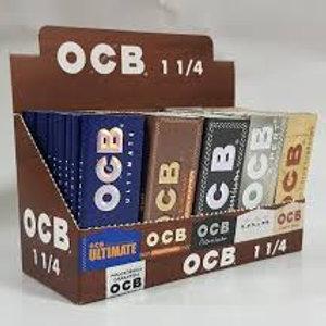 Papel para armar OCB 1/4 natural, negro, gris, todo la linea