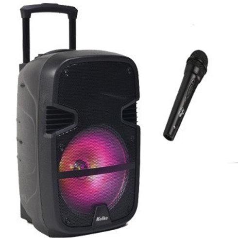 Bafle Kolke Karaoke 12 Bluetooth Sd Usb Bateria Microf Inalambrico