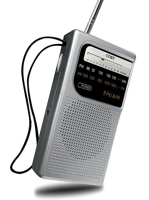 Radio Am Fm Coby Cr203 Portatil Correa Con Auriculares