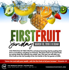 Special First Fruit Service