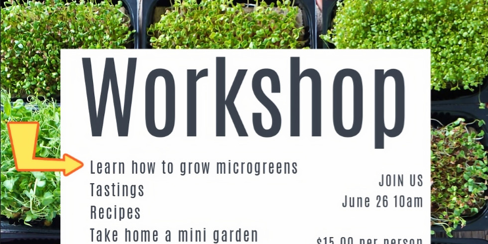 Microgreen Workshop Tickets ON SALE NOW
