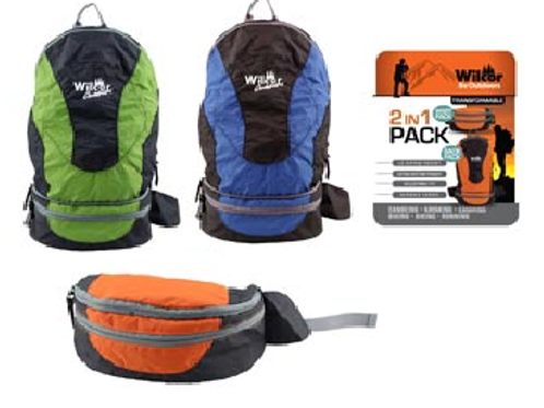 Backpack - 2 In 1 Pack Ultra Compact Backpack