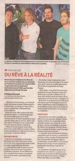 Journal de Montreal_Hamadryad_2007