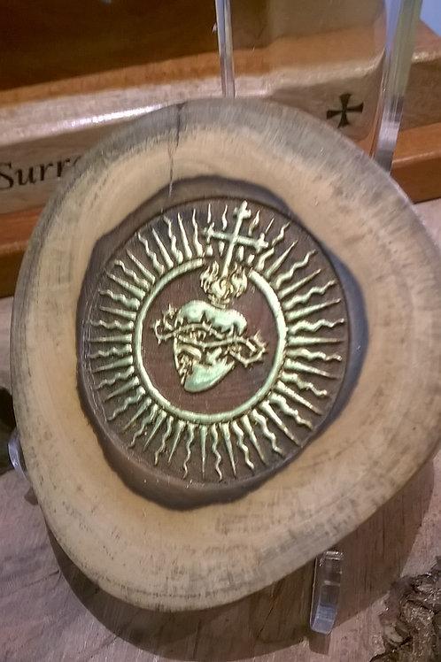 CUSTOM ORDER  - Sacred Heart Gold Medallion - Limited Offering