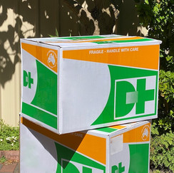 Large Packing Box Perth 90 Litre. Multiple available all the same  ideal for stacking. 1 ply or 2 ply.