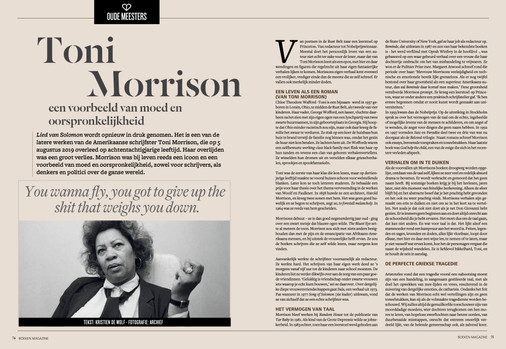 Toni Morrison - Portret in Boekenmagazine