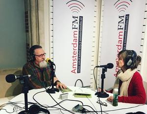 In de Paperback Radio studio met Peter De Rijk