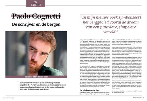 Paulo Cognetti - Portret Boekenmagazine
